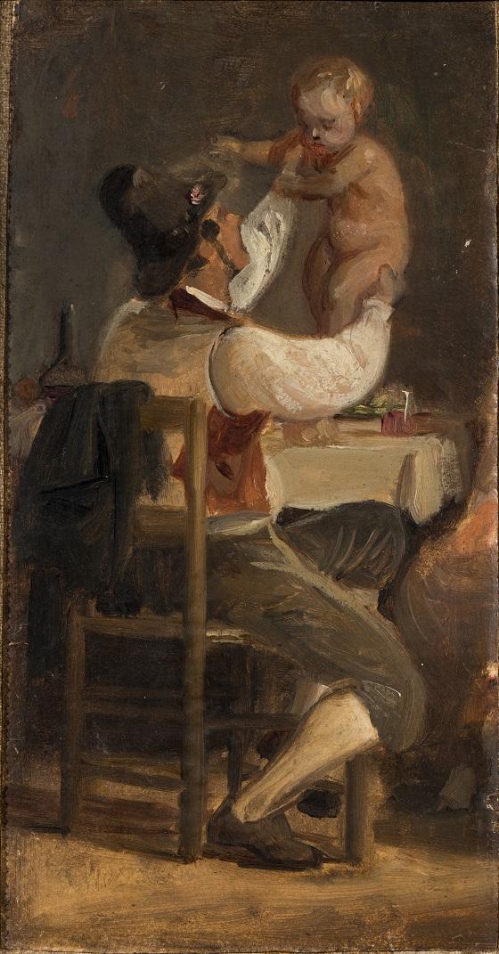 Wilhelm Marstrand, Faderglæde, ca. 1839