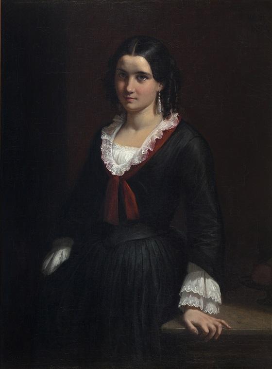 Wilhelm Marstrand, Portræt af Vilhelmine (Ville) Hage, senere fru Heise, 1853