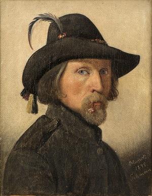 Ditlev Blunck, Selvportræt som friskarer, 1848. Nivaagaards Malerisamling_KALENDER