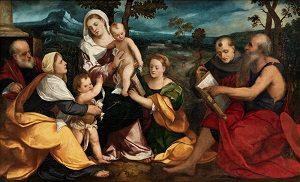 veronese-bonifazio-den-hellige-familie-omgivet-af-helgener-ca-1530_kalender