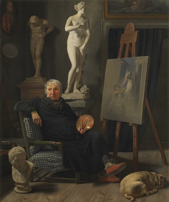 Rørbye, Martinus - Portræt af maleren C. A. Lorentzen, 1827_hjemmeside