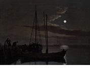 UDLÅN_Eckersberg, C.W. - Måneskinsbillede, 1821 0077NMK