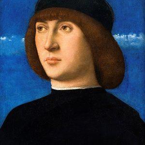 Kalender_Bellini, Giovanni - Portræt af en ung mand, ca. 1490 0003NMK