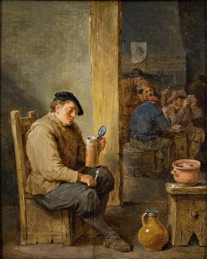 David Teniers II, Det tømte krus, 1668
