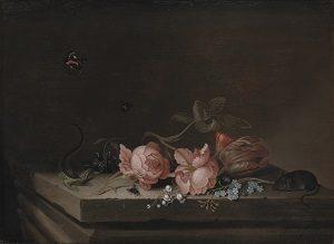kalender_Eva De La Fuente Pedersen. Jan Baptist van Fornenburgh, Blomster, u.å. Deponering fra Statens Museum for Kunst