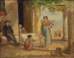 Kalender_Marstrand, Wilhelm - Barnet lærer at gå, før 1859 0105NMK