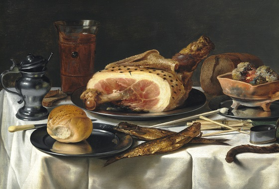 Pieter Claesz, Opstilling med skinke, 1625 0234NMK