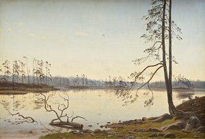 Kalender_Harald Foss, Sommermorgen, 1873. Nivaagaards Malerisamling