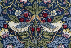 Kalender_William Morris, Strawberry Thief (Jordbærtyv), 1883. Tryk på bomuldsstof. The William Morris Society (Udsnit 3)
