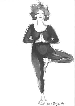 Kalender_Yoga. Jens Hage_Træet, 1995