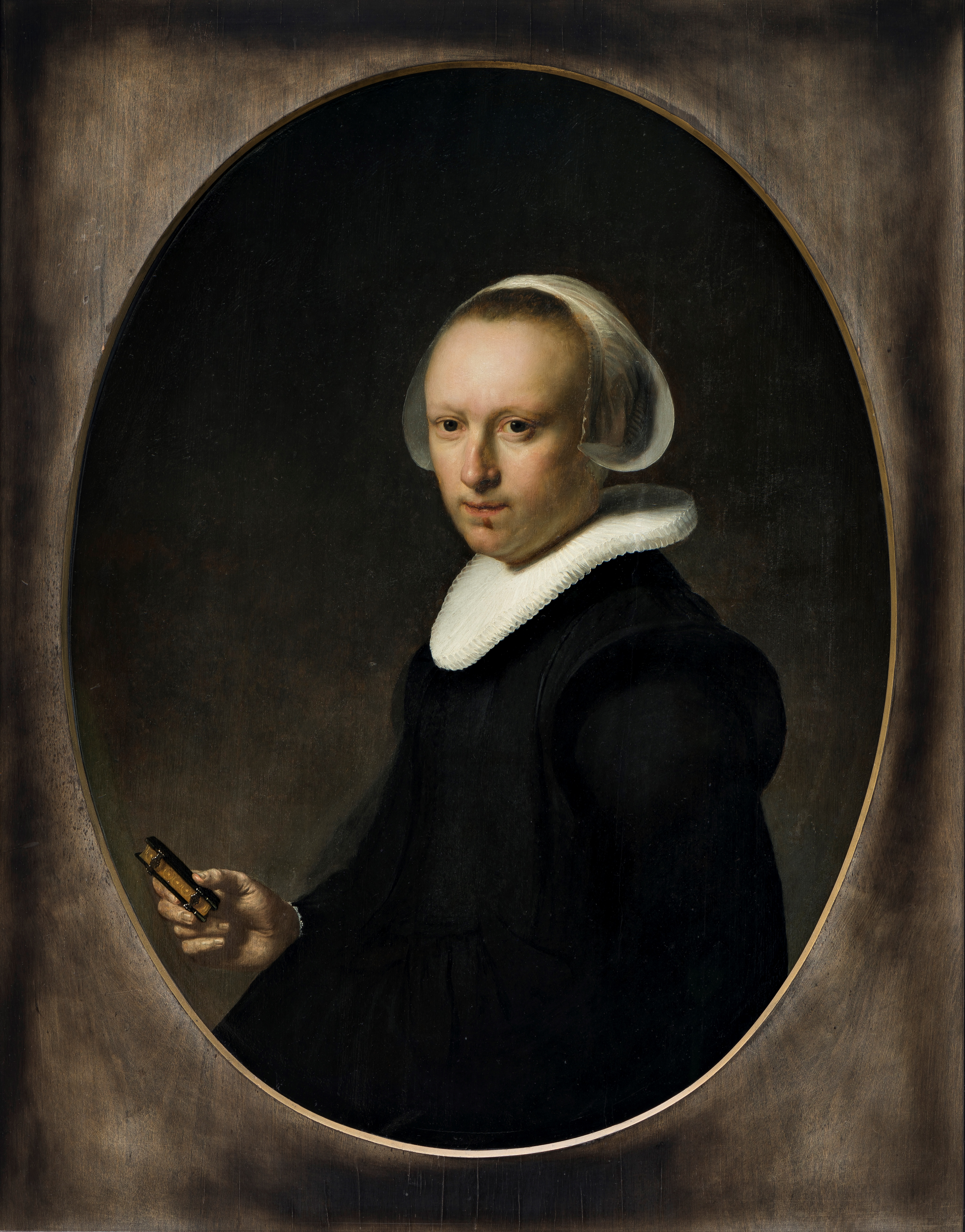 Maleri af Rembrandt Harmensz van Rijn, Portræt af en 39-årig kvinde, 1632. Nivaagaards Malerisamling.