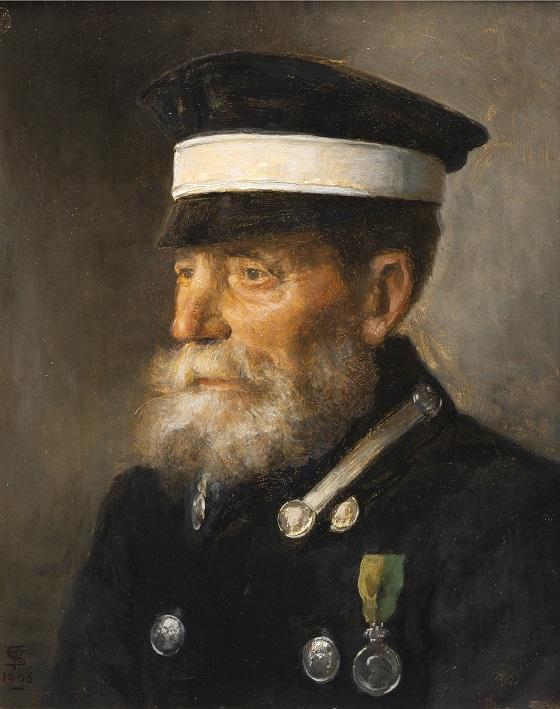 Maleri af Frans Schwartz, Kusken Jöns, 1906, Nivaagaards Malerisamling.