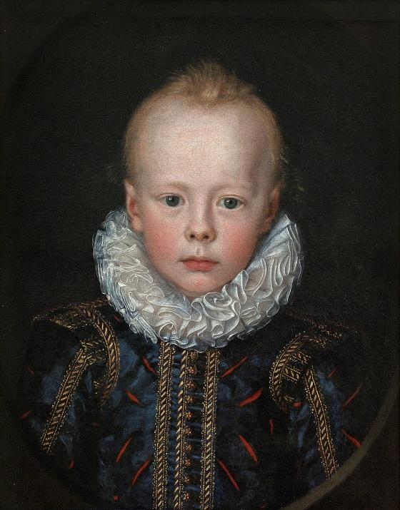 Maleri af Jacob van Doordt (Tilskrevet), Barneportræt af en prins, u.å. Nivaagaards Malerisamling.