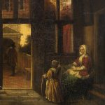 Unknown artist. Copy after Pieter de Hooch