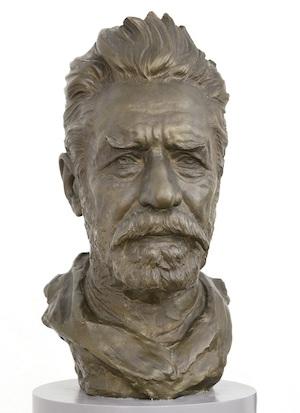 Buste af Ludvig Brandstrup , Godsejer Johannes Hage (1842-1923), 1918. Nivaagaards Malerisamling