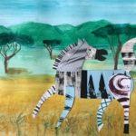 (Dansk) Collage-jungledyr med mønster og maling