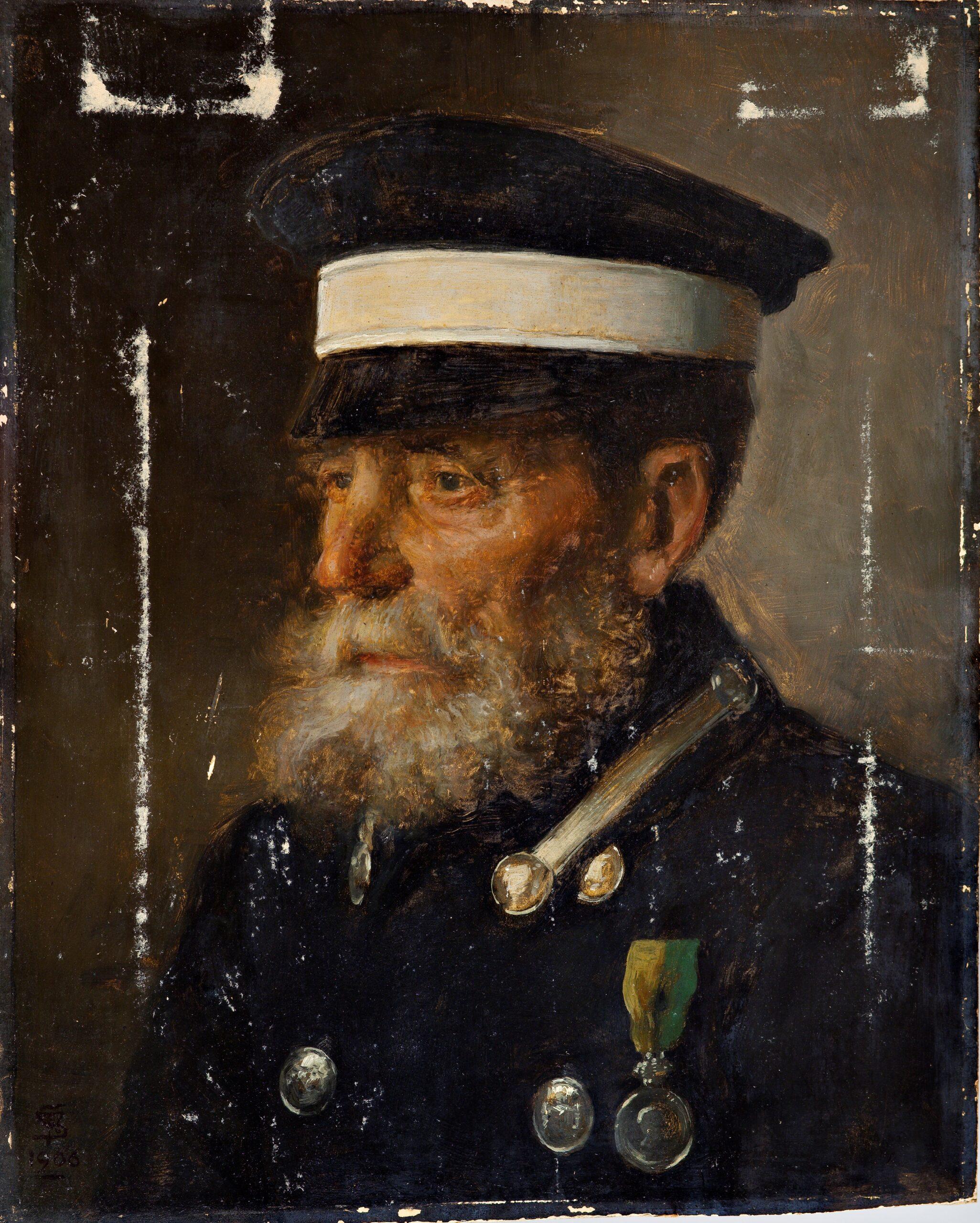 Maleri af Frans Schwartz, Kusken Jöns, 1906. Nivaagaards Malerisamling