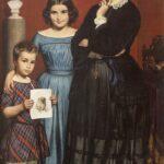 Wilhelm Marstrand, Portræt af Frederikke Vilhelmine Hage med børn