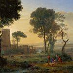 Claude Lorrain, Landskab med Flugten til Egypten, ca. 1646