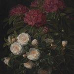 J.L. Jensen, Kamelier og rhododendron, 1852. Statens Museum for Kunst ©SMK Foto