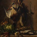 J.L. Jensen, Nature morte med grøntsager og vildt på et køkkenbord, 1835. Thorvaldsens Museum