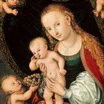 Lucas Cranach d.Æ., Madonna og Kristusbarnet med den lille Johannes Døberen og engle, efter 1537