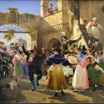 Wilhelm Marstrand, Romerske borgere forsamlede til lystighed i et osteri, 1839